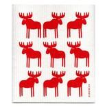 Swedish Dishcloth, Red Moose