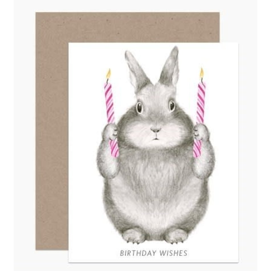 Card, Birthday Wishes Bunny