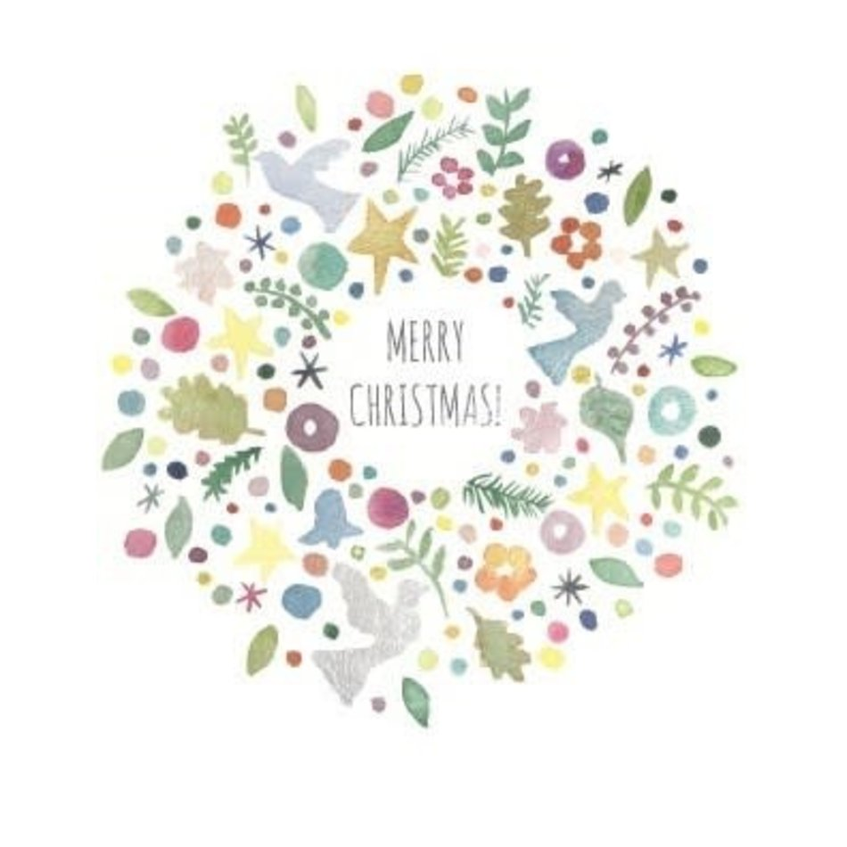 Holiday Card, Wreath Things
