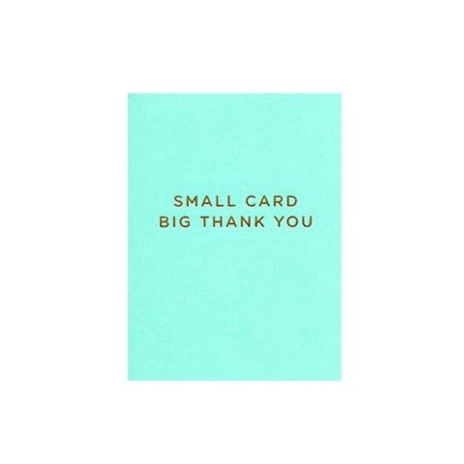 Mini Card, Big Thank You
