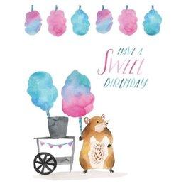 Card, Candy Floss