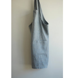 Linen Way Cuisine Linen Apron, Blue/Natural