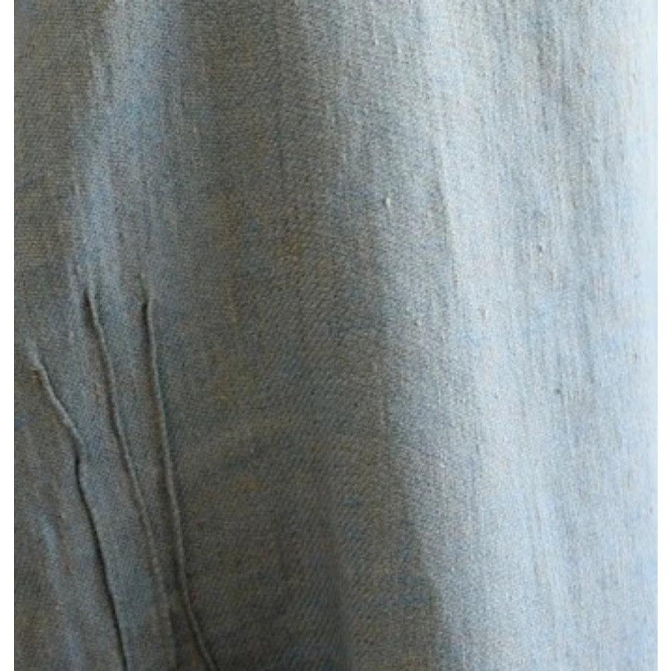 Linen Way Cuisine Linen Apron, Blue/Natural