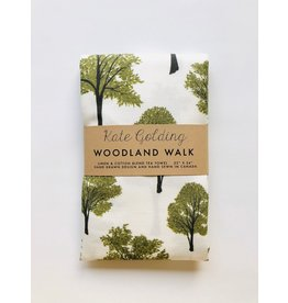 Kate Golding Tea Towel, Woodland Walk