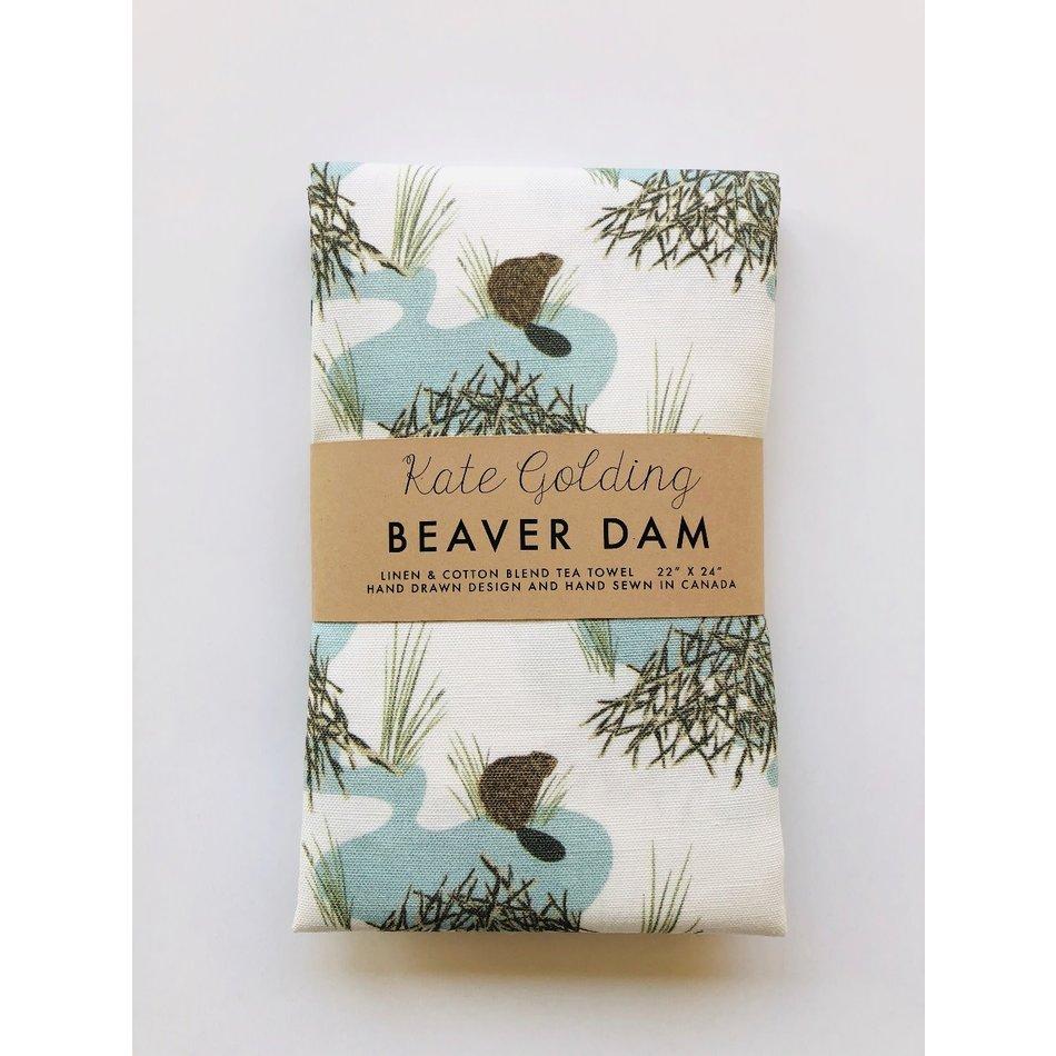 Kate Golding Tea Towel, Beaver Dam