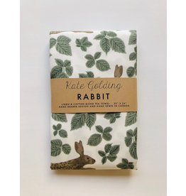 Kate Golding Tea Towel, Rabbit