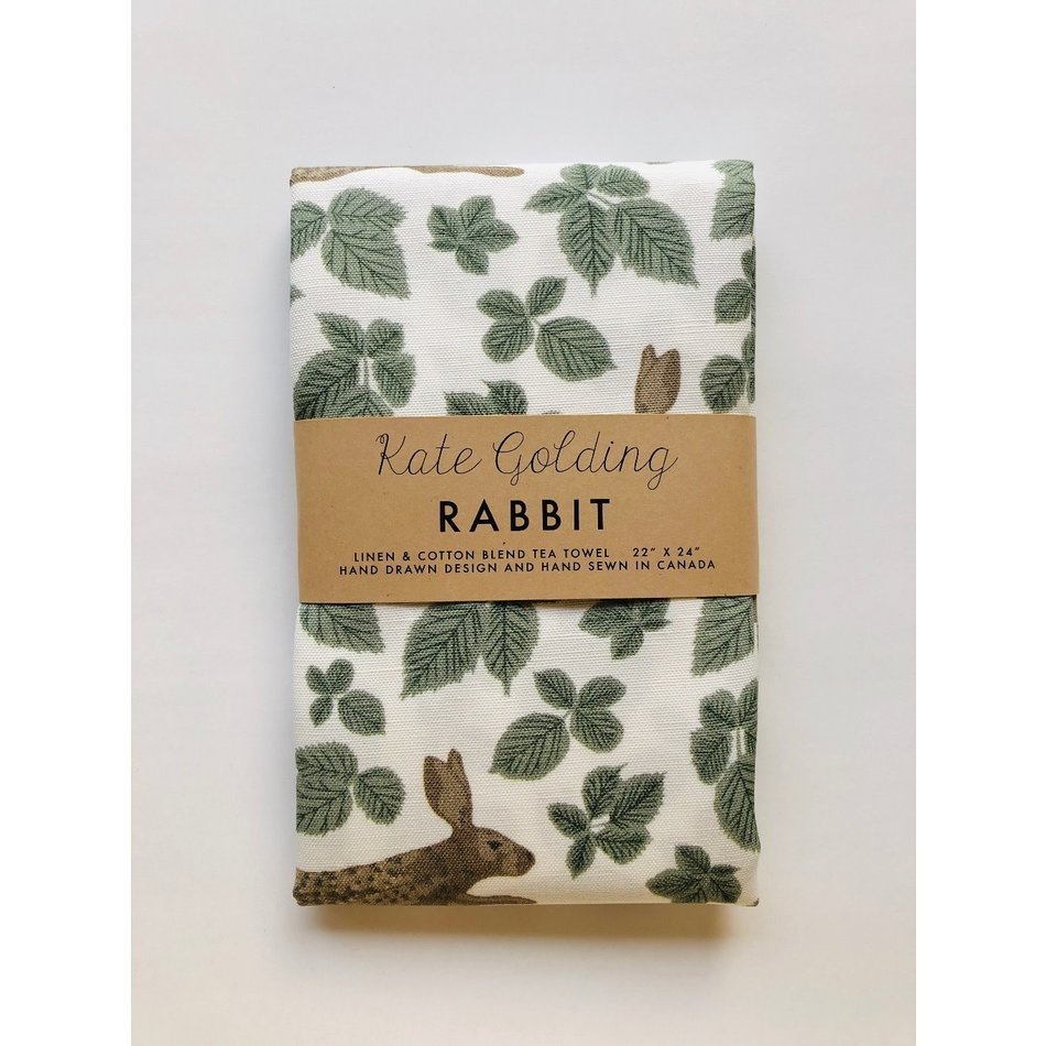Kate Golding Tea Towel, Rabbit