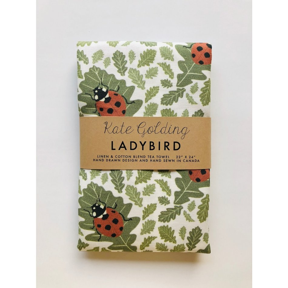 Kate Golding Tea Towel, Ladybird
