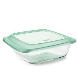 "OXO Good Grips OXO Good Grips Square Baker with LId, 8"", Glass"