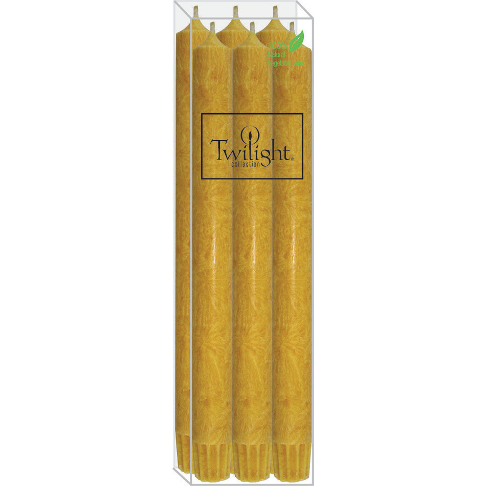"""Twilight ECO 10"""" Candle, 6-pack, Yellow"""