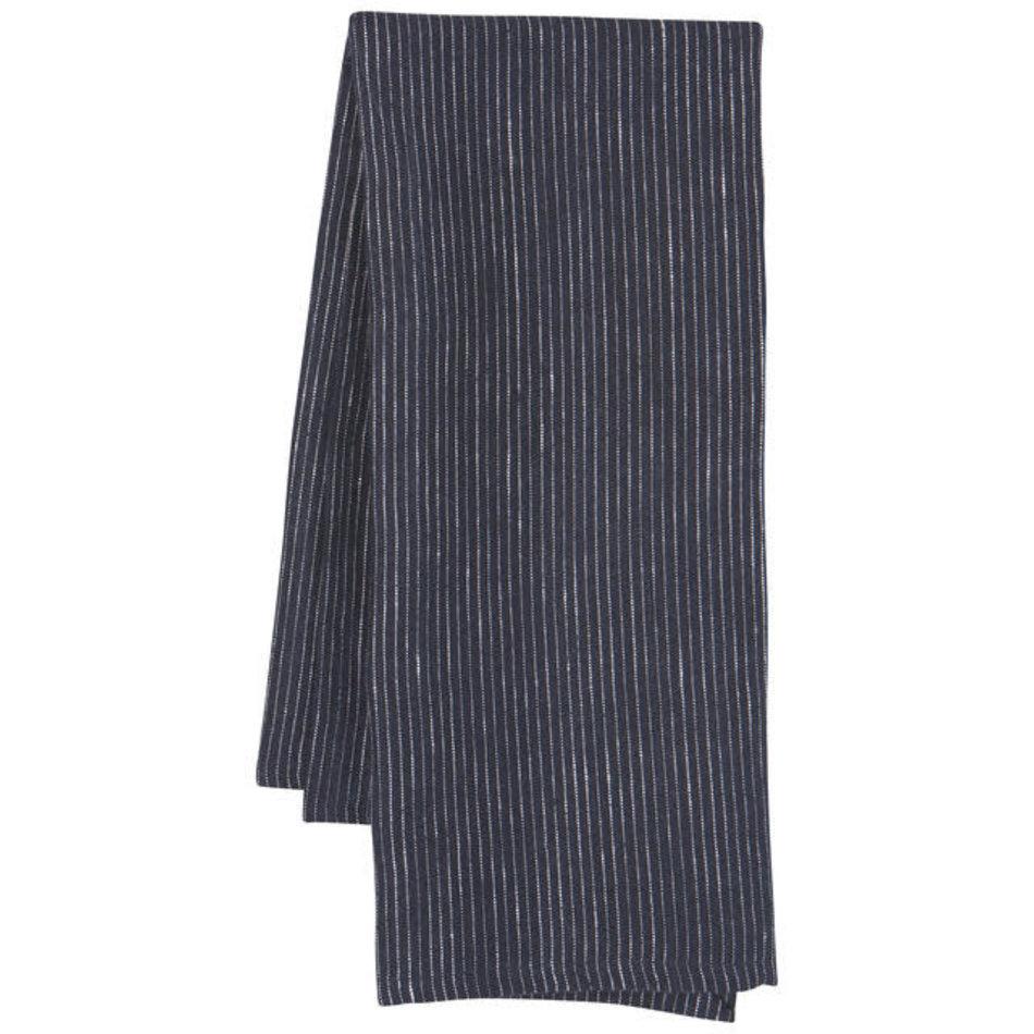 Heirloom Linen Tea Towel, Midnight