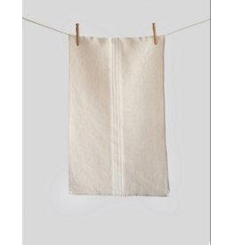 Maison Stone Washed Linen Tea Towel, Beige with White Stripe