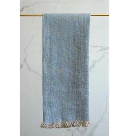 Linen Way Bilbao Linen Tea Towel, Blue/Natural