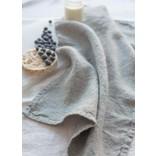 Linen Way Chateau Linen Tea Towel , Stonewashed Grey