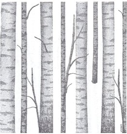 Paviot Dinner Napkin, Birch Wood Grey