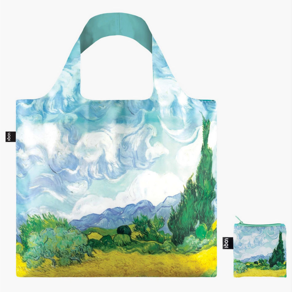 LOQI LOQI Totebag, Vincent Van Gogh - A Wheat Field with Cypresses