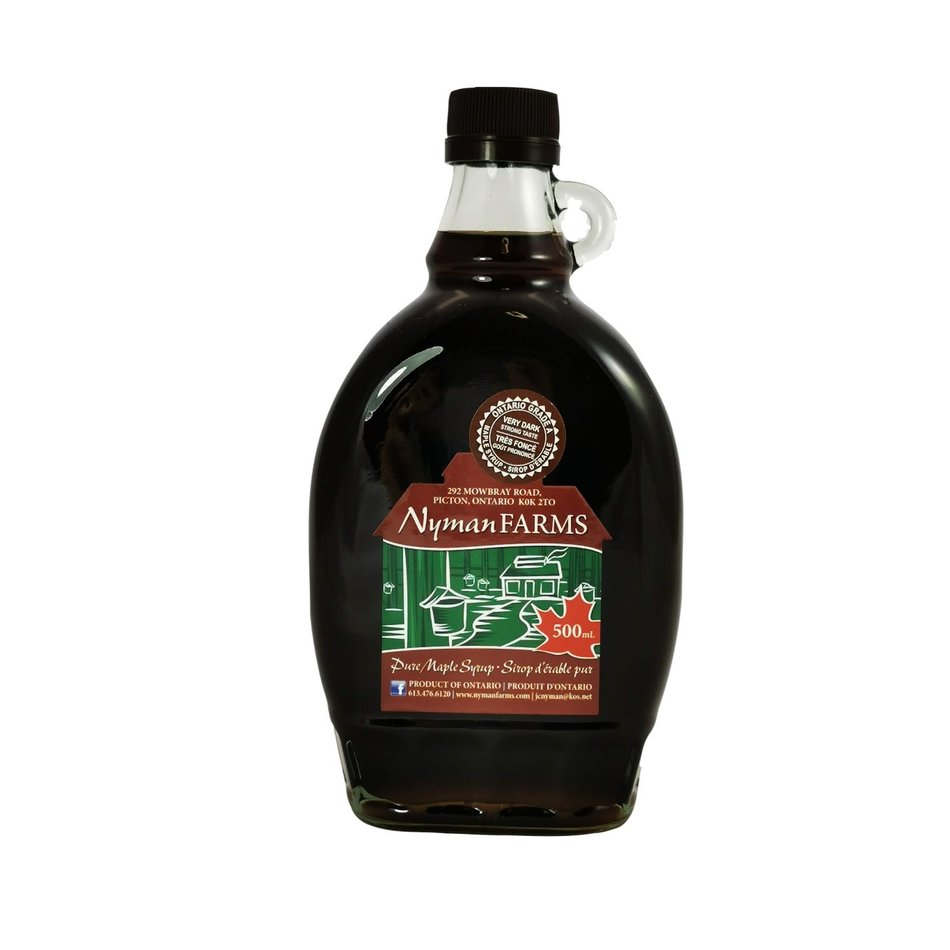 Nyman Farms Very Dark Maple Syrup, 500ml