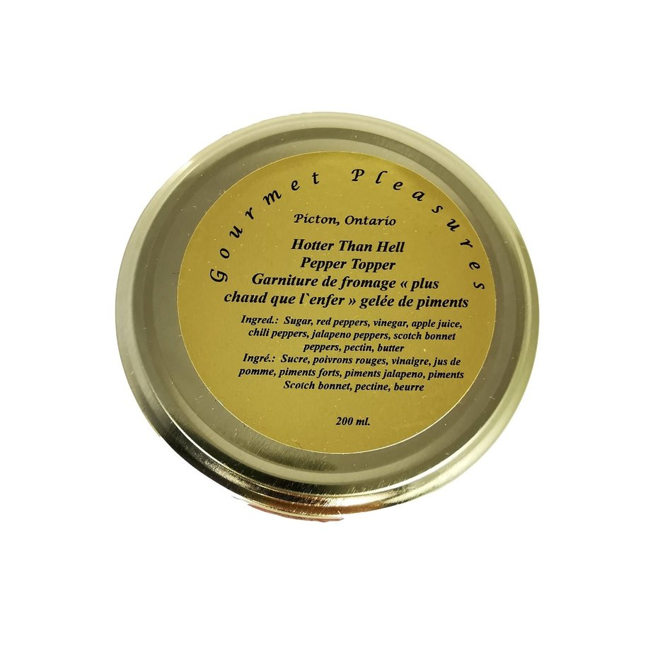 Gourmet Pleasures Preserves, Hotter Than Hell Pepper Jelly