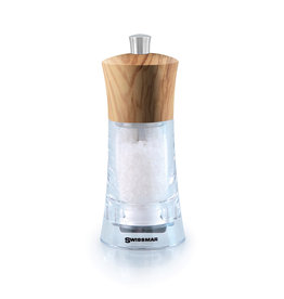 Torre Acrylic Salt Mill with Olivewood Top