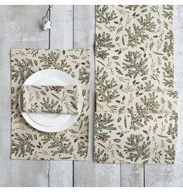 Holly Napkin Set of 4, Multi