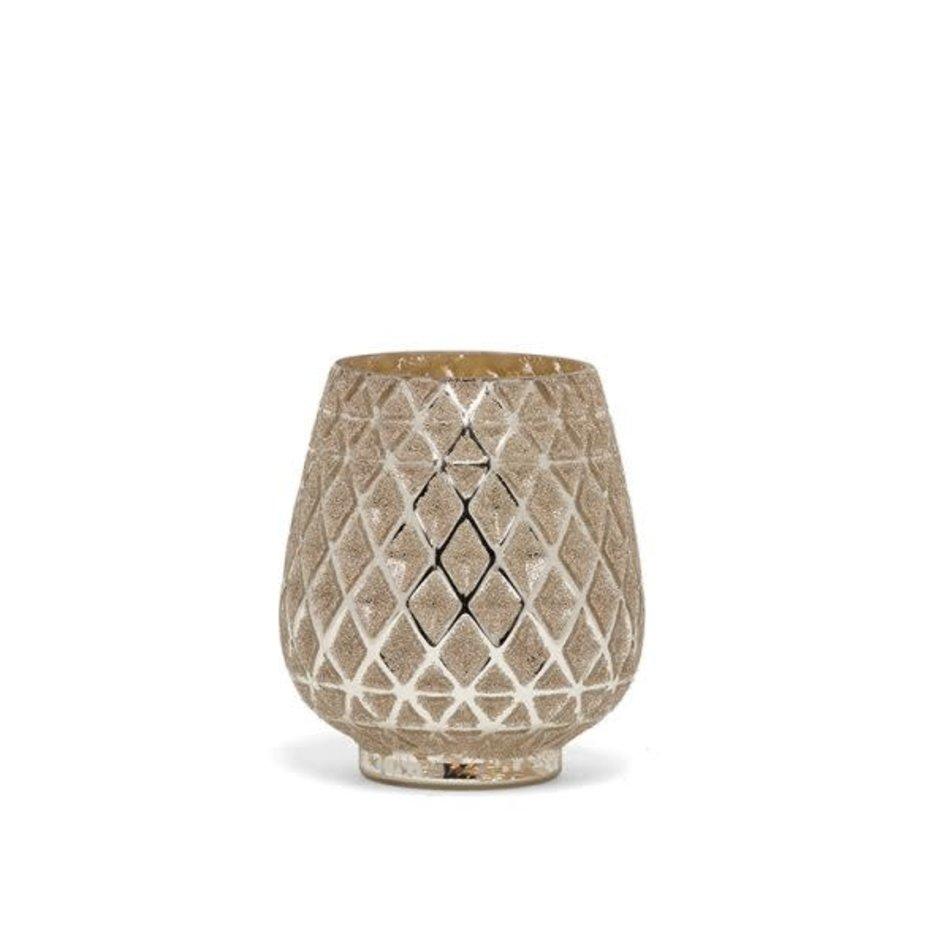 Pinecone Candle Holder Medium Champagne
