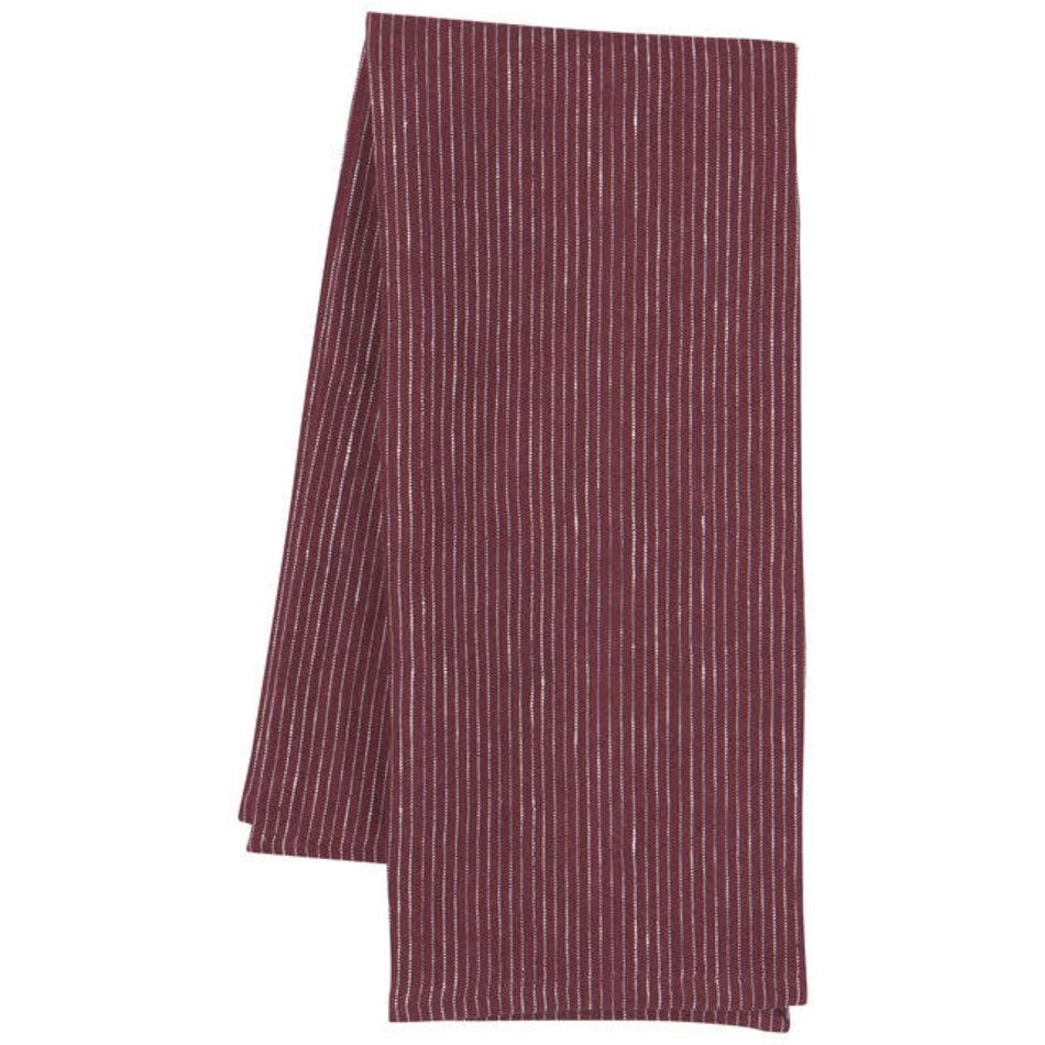Heirloom Linen Tea Towel, Wine