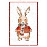 Flour Sack Kitchen Towel, Holiday Bunny