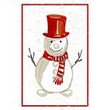 Flour Sack Kitchen Towel, Snowman