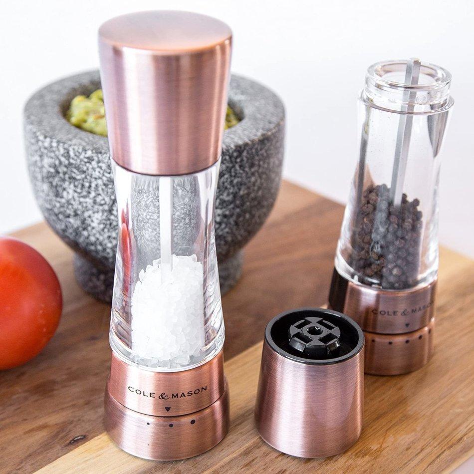 Cole & Mason Derwent Salt & Pepper Set, Copper