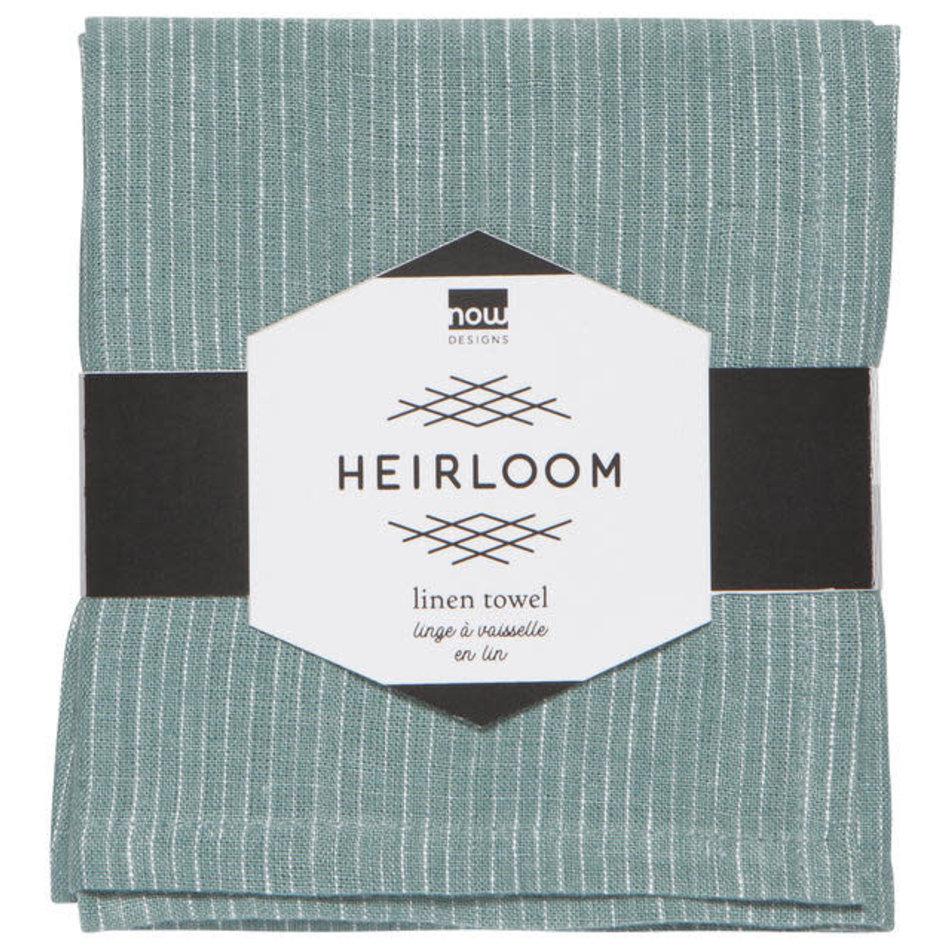 Heirloom Linen Tea Towel, Lagoon