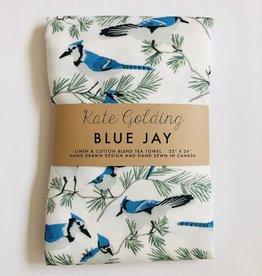 Kate Golding Tea Towel, Blue Jay