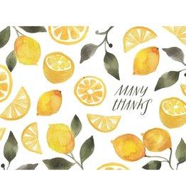 Card, Lemon Thank You