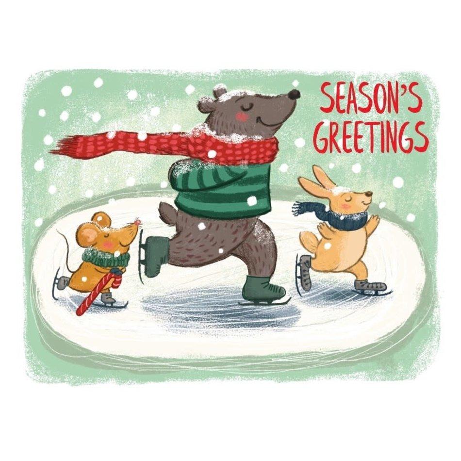 Card, Skating Critters