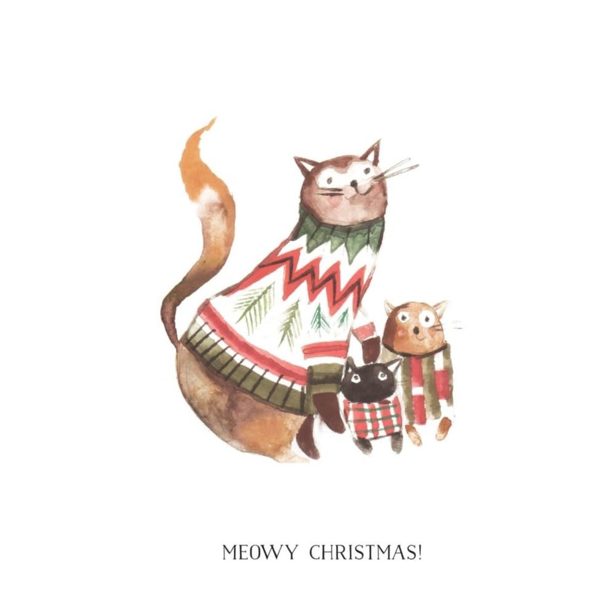 Card, Meowy Christmas