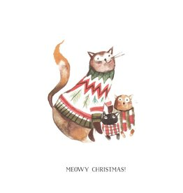 Card, Meowy Christmas