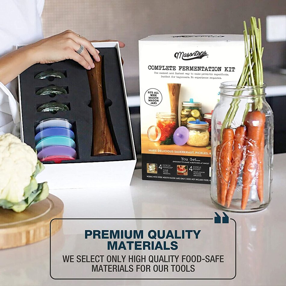 Masontops, Complete Fermentation Kit, 3pc