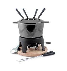 Swissmar Swissmar Sierra Iron Fondue Set, Metallic Black