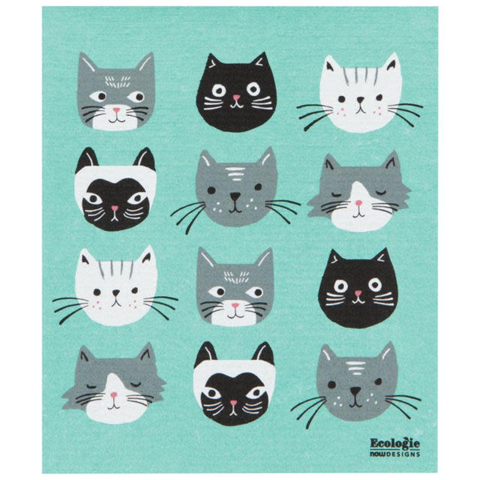 Swedish Sponge Towel, Cats Meow