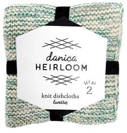Heirloom Knit Dishcloth, Set of 2, Lagoon