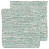 Now Designs Heirloom Knit Dishcloth, Set of 2, Lagoon