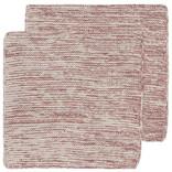 Now Designs Heirloom Knit Dishcloth, Set of 2, Wine
