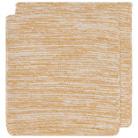 Heirloom Knit Dishcloth, Set of 2, Ochre