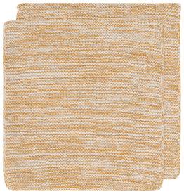 Now Designs Heirloom Knit Dishcloth, Set of 2, Ochre