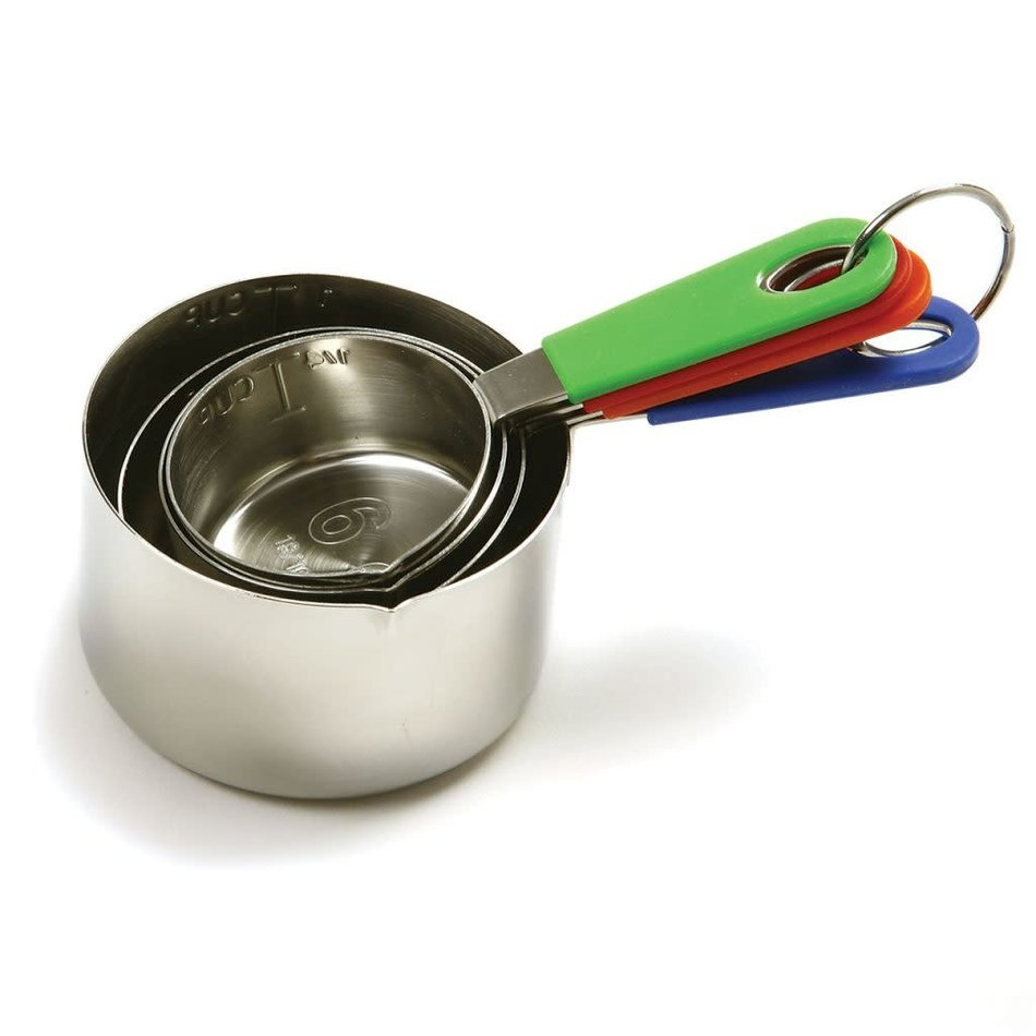 Norpro Stainless Steel Measuring Cups with Silicone Handles