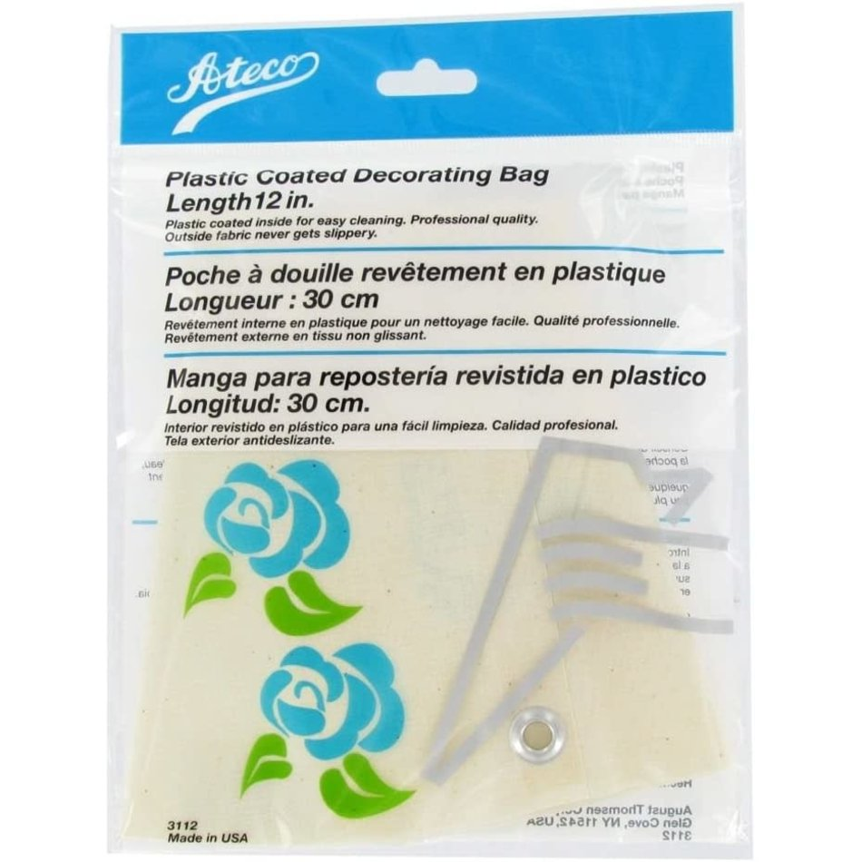 """Ateco Cloth Pastry/Icing Bag, 12"""""""