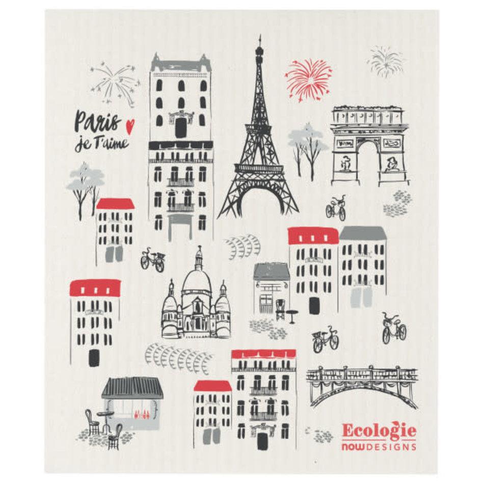 Now Designs Swedish Dishcloth,  Paris Je Taime