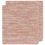 Now Designs Heirloom Knit Dishcloth, Set of 2, Clay
