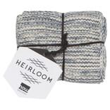 Now Designs Heirloom Knit Dishcloth, Set of 2, Midnight