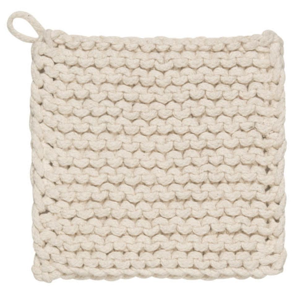 Now Designs Heirloom Knit Potholder Natural