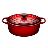 Le Creuset Le Creuset 6.3L Oval French Oven Cherry